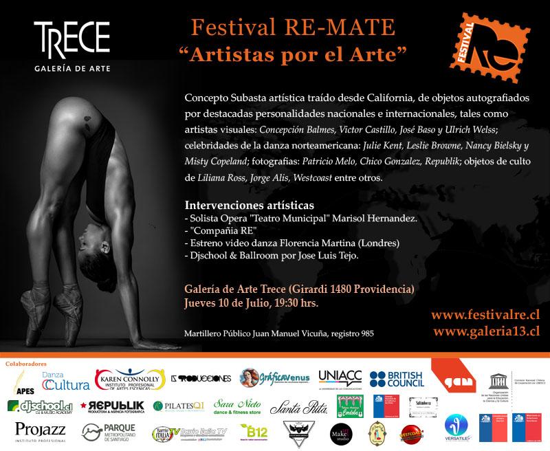 """Festival RE-MATE """"Artistas por el Arte"""""""